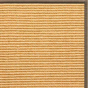 Tan Sisal Rug with Serged Border (Color 518)