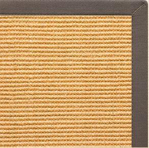 Tan Sisal Rug with Silver Shadow Cotton Border - Free Shipping