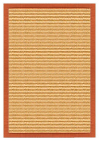 Area Rugs - Sustainable Lifestyles Tan Sisal Rug With Spice Orange Cotton Border