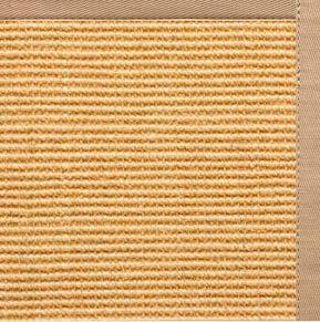 Tan Sisal Rug with Straw Cotton Border