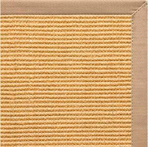 Tan Sisal Rug with Straw Cotton Border - Free Shipping