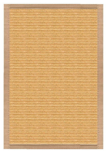 Area Rugs - Sustainable Lifestyles Tan Sisal Rug With Straw Cotton Border