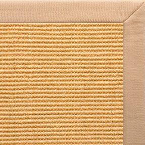 Tan Sisal Rug with Tan Linen Border