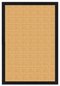 Area Rugs - Sustainable Lifestyles Tight Weave Sisal Rug With Black Onyx Cotton Border