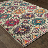 Casual Rug - Bohemian Grey Multi Border Medallion Casual Rug