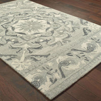 Casual Rug - Craft Ash Ivory Floral Border Casual Rug