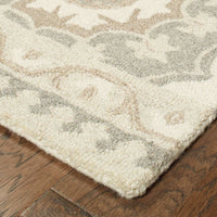 Casual Rug - Craft Grey Sand Floral Medallion Casual Rug