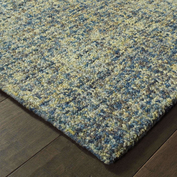 Casual Rug - Finley Blue Green Solid  Casual Rug