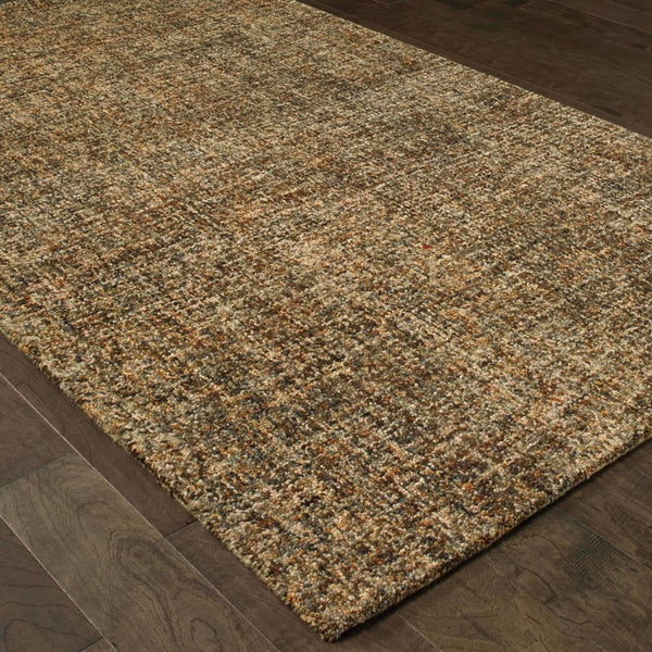 Casual Rug - Finley Brown Beige Solid  Casual Rug