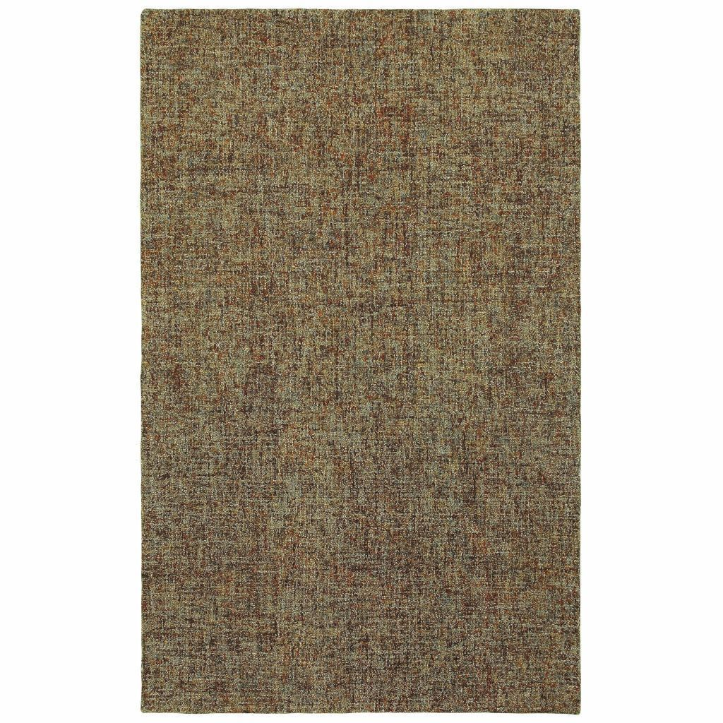 Finley Brown Multi Solid  Casual Rug - Free Shipping