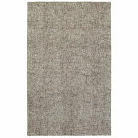 Finley Grey Grey Solid  Casual Rug - Free Shipping