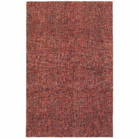 Finley Red Rust Solid  Casual Rug - Free Shipping