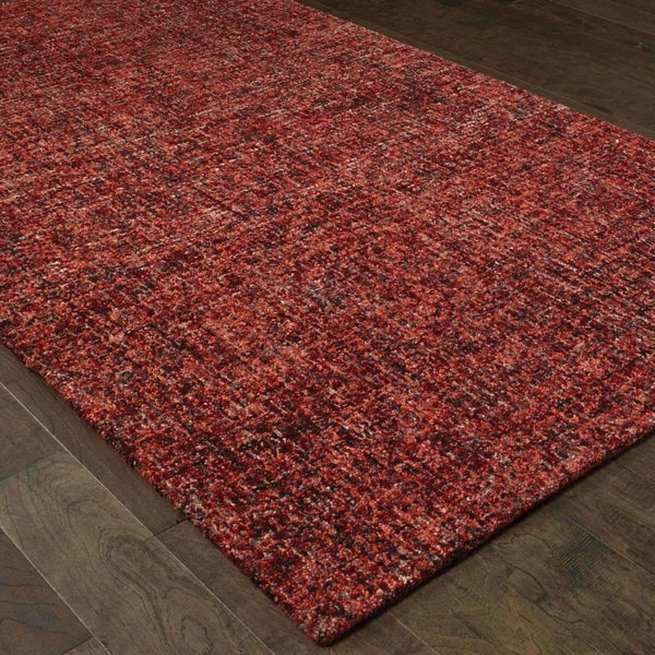 Casual Rug - Finley Red Rust Solid  Casual Rug