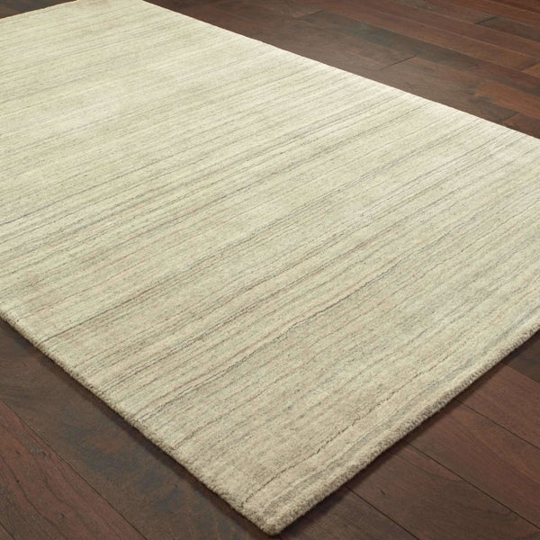 Casual Rug - Infused Beige Beige Solid Distressed Casual Rug