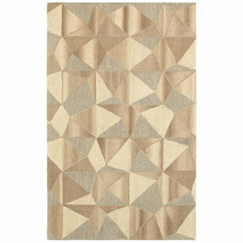 Oriental Weavers Infused Beige Grey Geometric  Casual Rug