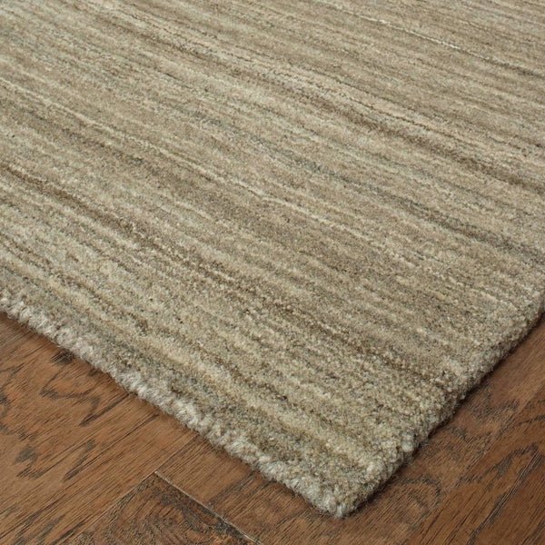 Casual Rug - Infused Brown Brown Solid Distressed Casual Rug