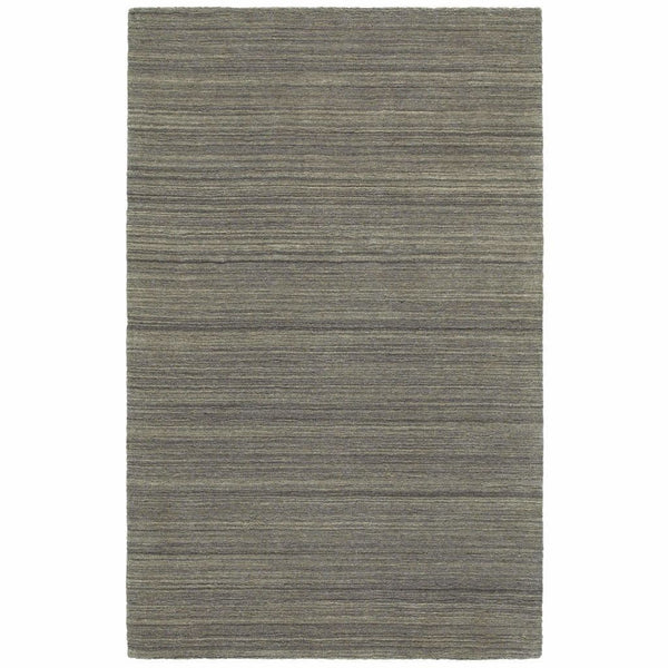 Infused Charcoal Charcoal Solid Distressed Casual Rug - Free Shipping