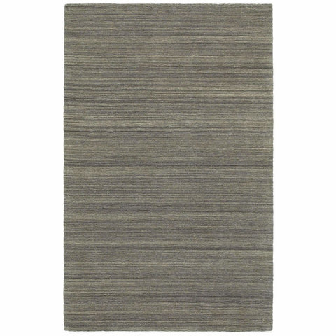 Infused Charcoal Charcoal Solid Distressed Casual Rug