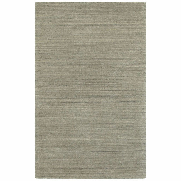 Infused Grey Grey Solid Distressed Casual Rug - Free Shipping