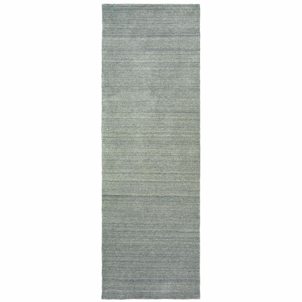 Casual Rug - Infused Grey Grey Solid Distressed Casual Rug