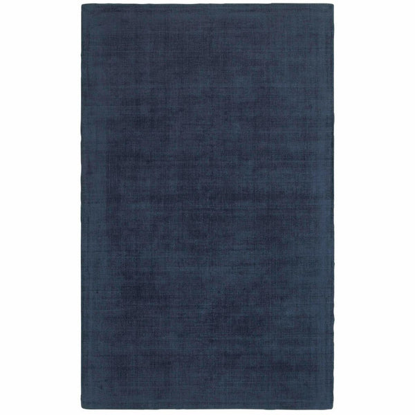 Mira Blue Blue Solid Distressed Casual Rug - Free Shipping