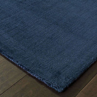 Mira Blue Blue Solid Distressed Casual Rug
