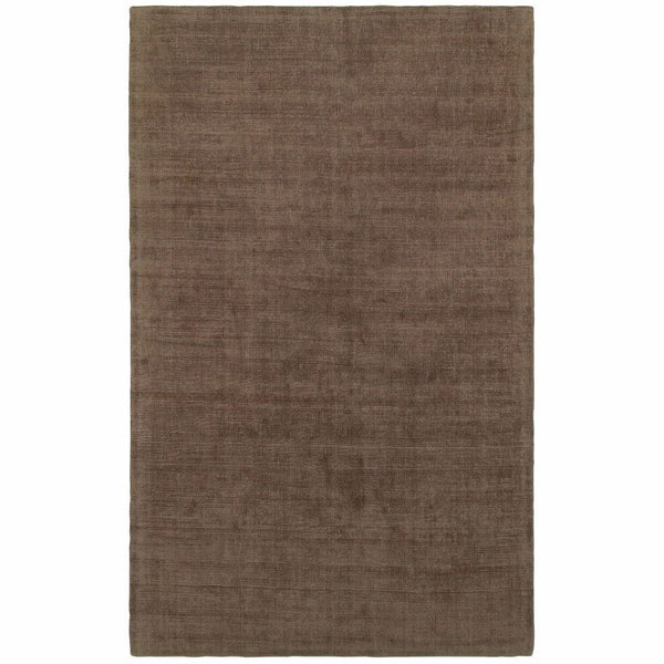 Mira Brown Brown Solid Distressed Casual Rug - Free Shipping