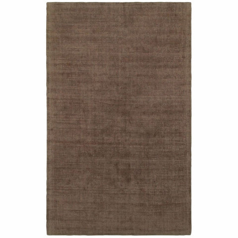Oriental Weavers Mira Brown Brown Solid Distressed Casual Rug