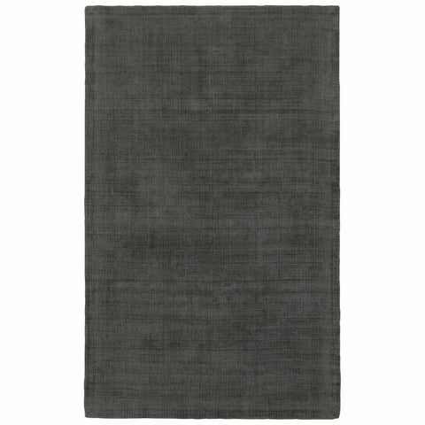 Oriental Weavers Mira Charcoal Charcoal Solid Distressed Casual Rug