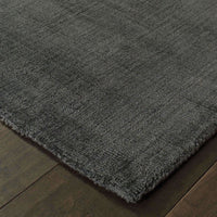 Mira Charcoal Charcoal Solid Distressed Casual Rug