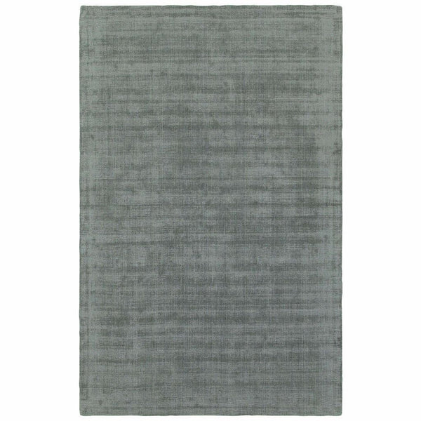 Mira Green Green Solid Distressed Casual Rug - Free Shipping