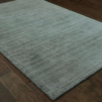 Mira Green Green Solid Distressed Casual Rug