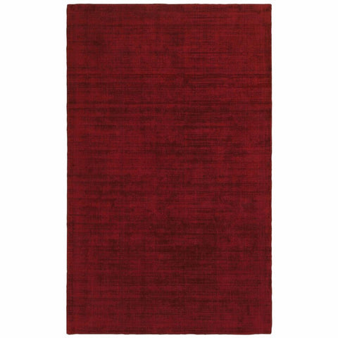 Oriental Weavers Mira Red Red Solid Distressed Casual Rug