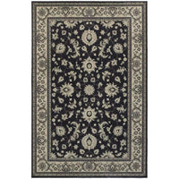 Richmond Charcoal Ivory Oriental Persian Traditional Rug - Free Shipping