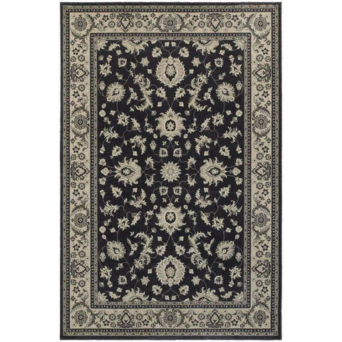 Richmond Charcoal Ivory Oriental Persian Traditional Rug
