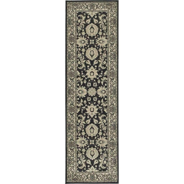 Woven Richmond Charcoal Ivory Oriental Persian Traditional Rug