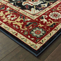 Traditional Rug - Kashan Red Ivory Oriental Medallion Traditional Rug