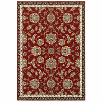 Kashan Red Multi Oriental Floral Traditional Rug - Free Shipping