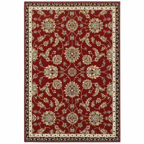 Oriental Weavers Kashan Red Multi Oriental Floral Traditional Rug