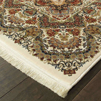 Traditional Rug - Masterpiece Ivory Multi Oriental Medallion Traditional Rug