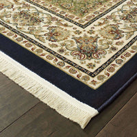 Traditional Rug - Masterpiece Navy Ivory Oriental  Traditional Rug