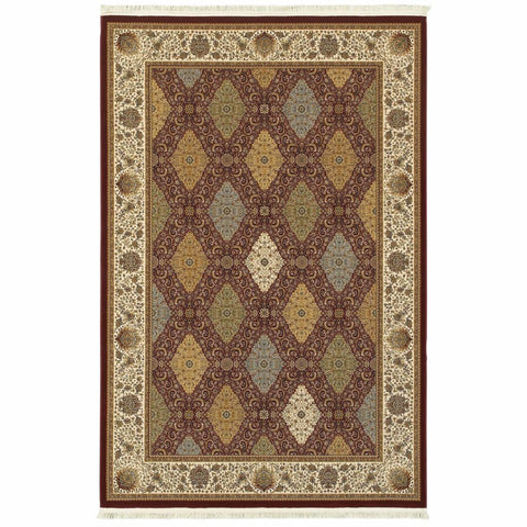 Oriental Weavers Masterpiece Red Multi Oriental Geometric Traditional Rug