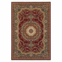 Masterpiece Red Multi Oriental Medallion Traditional Rug - Free Shipping
