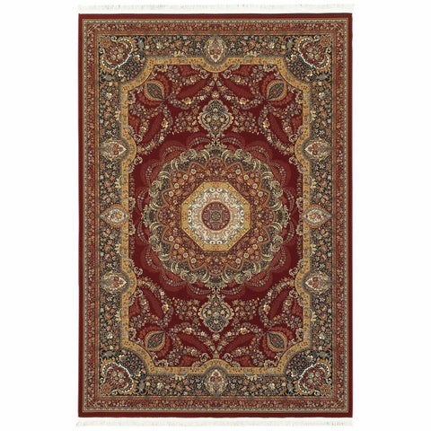 Oriental Weavers Masterpiece Red Multi Oriental Medallion Traditional Rug