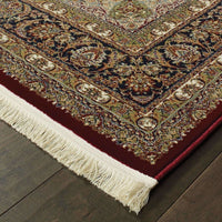 Traditional Rug - Masterpiece Red Multi Oriental Medallion Traditional Rug