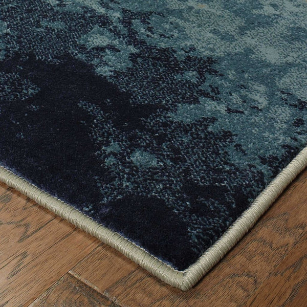 Transitional Rug - Linden Blue Beige Abstract Ombre Transitional Rug