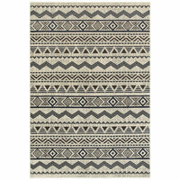 Linden Grey Blue Southwest/Lodge Chevron Transitional Rug - Free Shipping