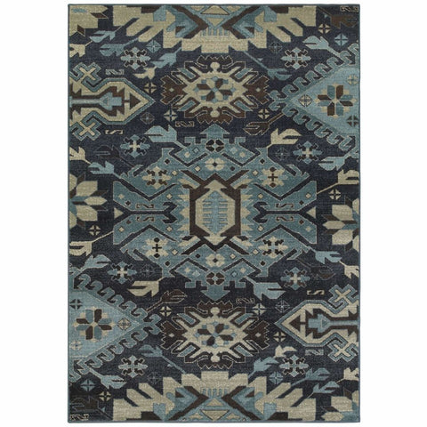 Oriental Weavers Linden Navy Blue Southwest/Lodge  Transitional Rug