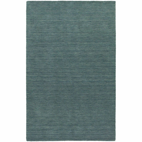 Aniston Blue  Solid  Transitional Rug - Free Shipping
