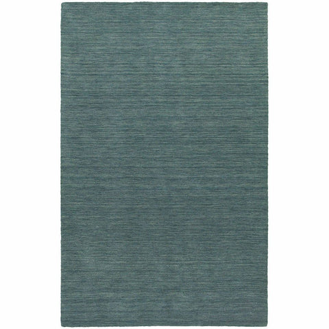Aniston Blue  Solid  Transitional Rug
